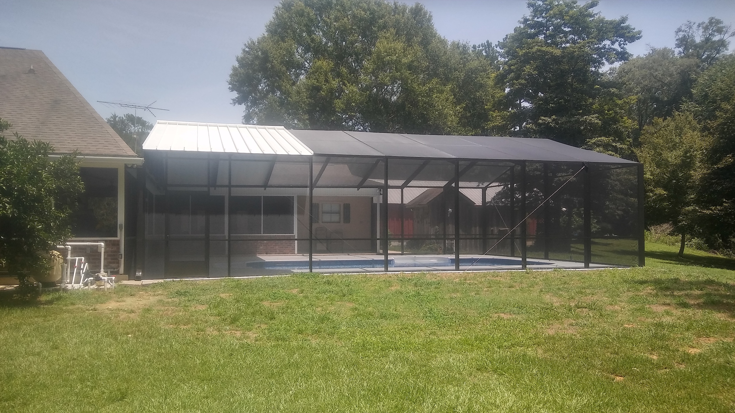 Add safety and security to your outdoor pool with an affordable aluminum pool enclosure.